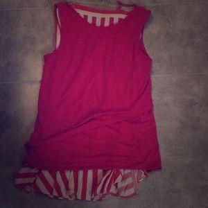 Women's Hot Pink Shirt and Skirt